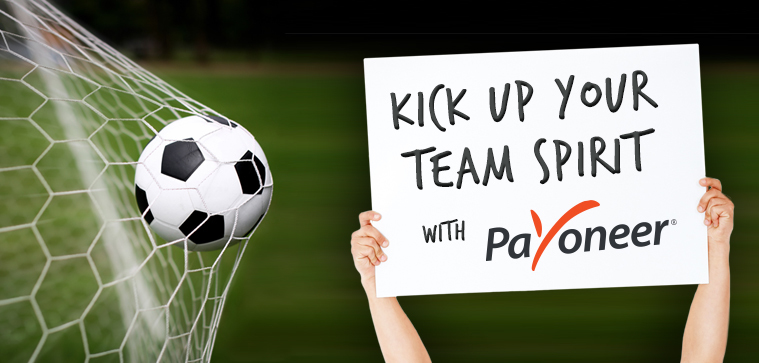 «Kick Up Your Team Spirit» вместе с Payoneer