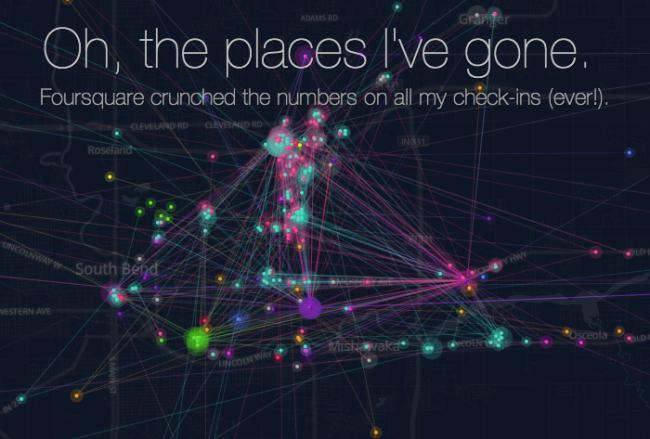 «Машина времени» от Foursquare: все ваши путешествия за все время