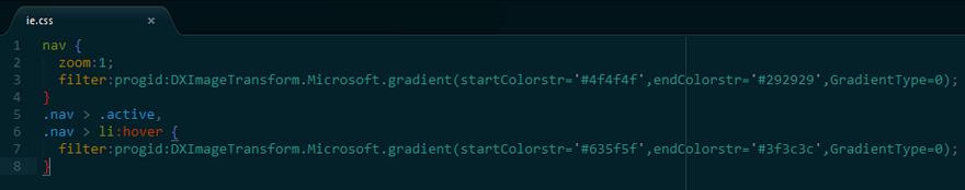 CSS -ms-filter bug