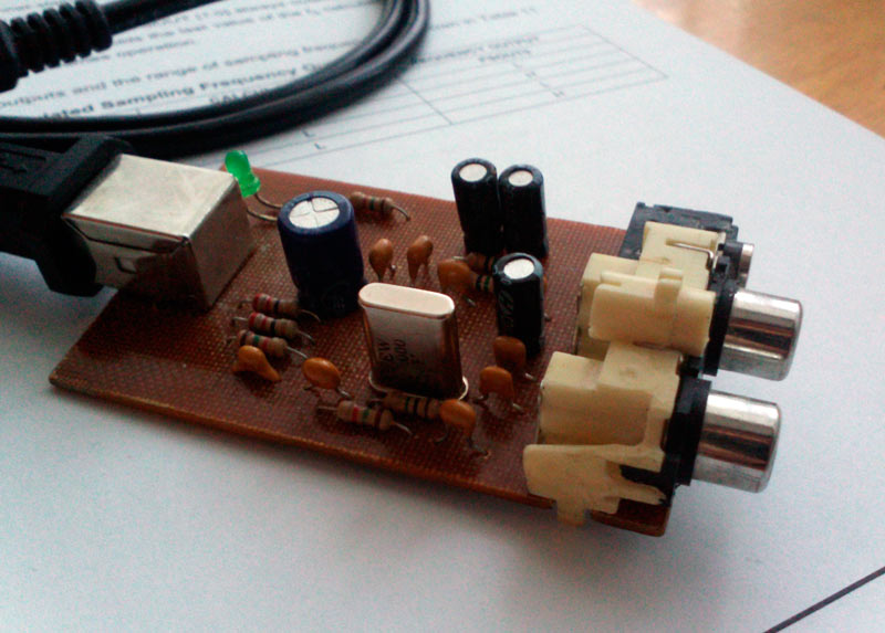 DIY или Сделай Сам / [Из песочницы] Простой аудио ЦАП с подключением по USB (звуковая карта)