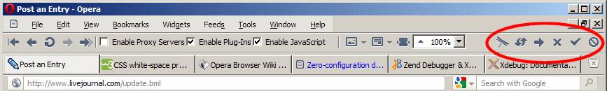 PHP / [Из песочницы] Панель инструментов Xdebug для отладки PHP в Opera