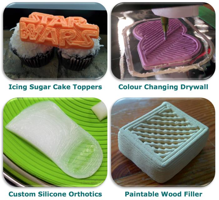 Discov3ry: насадка экструдер к обычному 3D принтеру для работы с… шоколадным кремом, силиконом, полиуретаном, глиной