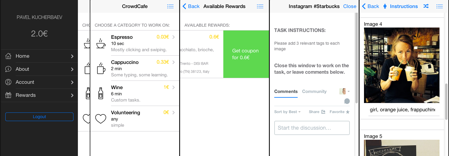 CrowdCafe — мобильная краудсорсинг платформа