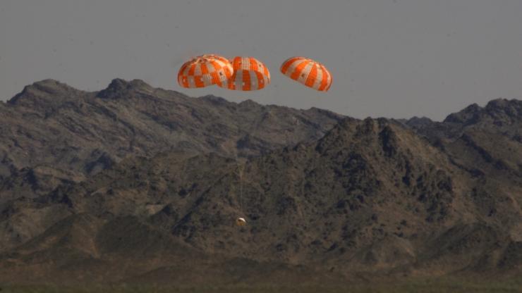 Космический корабль Orion успешно прошел испытания по приземлению
