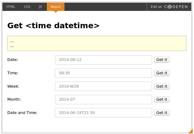Элемент HTML &lttime>
