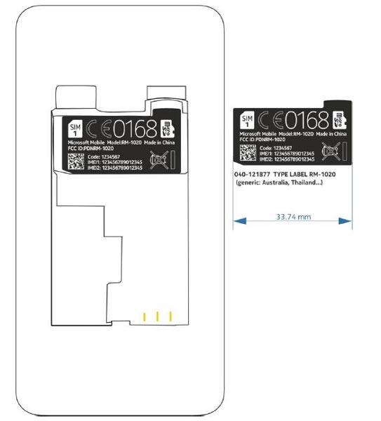 Модель Nokia Lumia 530 получила каталожное обозначение RM-1020