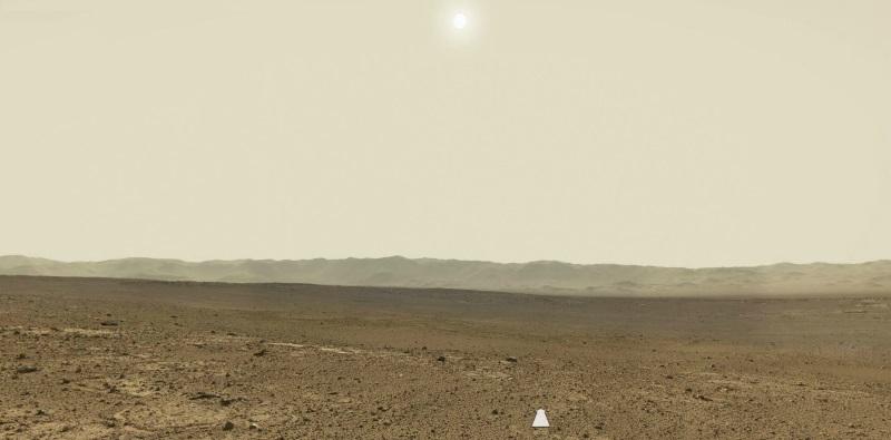 Sol 647: новая «живая» панорама Curiosity на Марсе