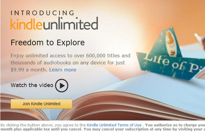 Kindle Unlimited: месячный абонемент за $9,99 на книги из Amazon