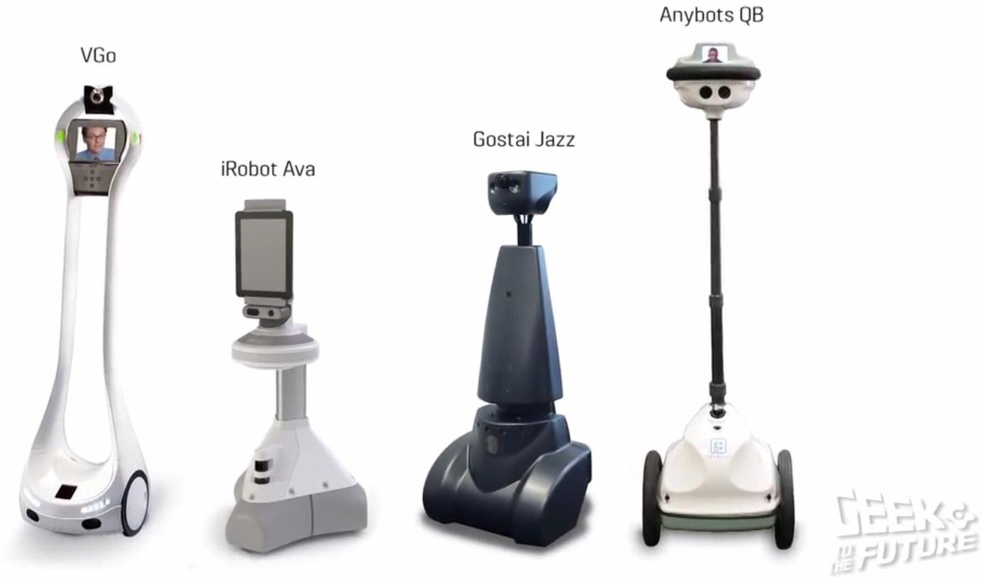 Различные роботы виртуального присутствия