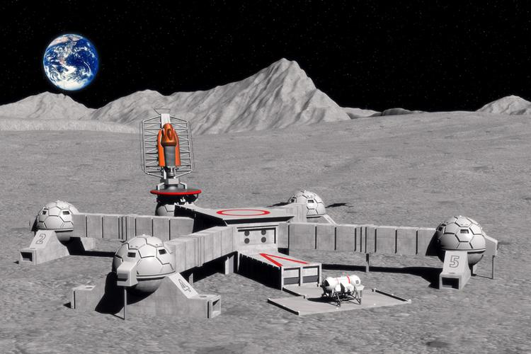Полёт к Луне с посадкой на лунной базе