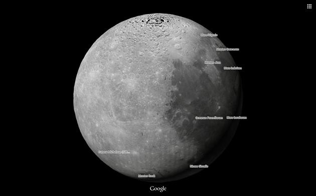 Изучать Луну и Марс теперь можно при помощи Google Maps