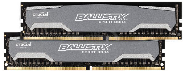 В общей сложности предложено восемь наборов модулей памяти DDR4 Crucial
