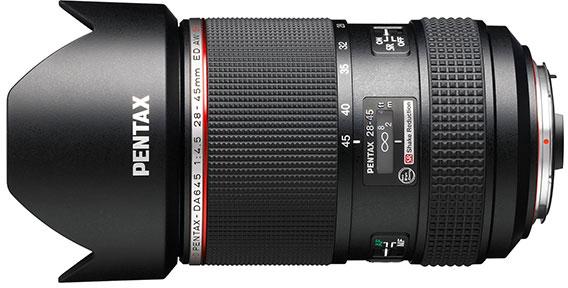 HD Pentax-DA645 28-45mm F4.5ED AW SR — первый сверхширокоугольный зум-объектив для среднеформатных камер