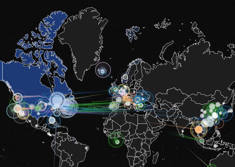 Визуализация кибератак в реальном времени