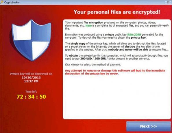 Бесплатная расшифровка файлов CryptoLocker