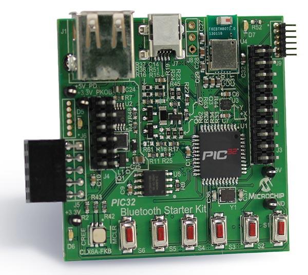 Микроконтроллер Microchip PIC32 стал основой набора для разработчиков, желающих использовать Bluetooth в своих проектах