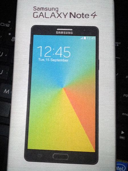Samsung Galaxy Note 4, упаковка