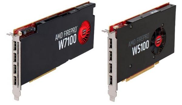 AMD FirePro W2100, FirePro W4100, FirePro W5100 и FirePro W7100