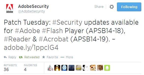 Microsoft и Adobe выпустили набор обновлений, август 2014