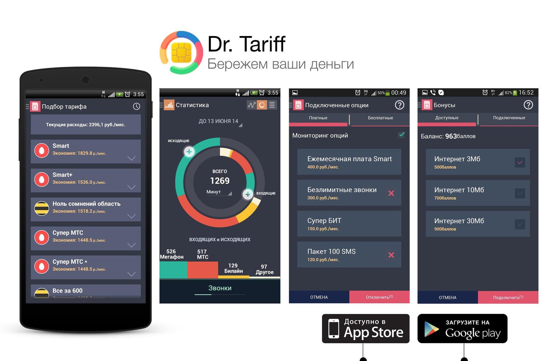 Dr. Tariff 2.0: новые возможности для абонентов Билайн, МегаФон и МТС