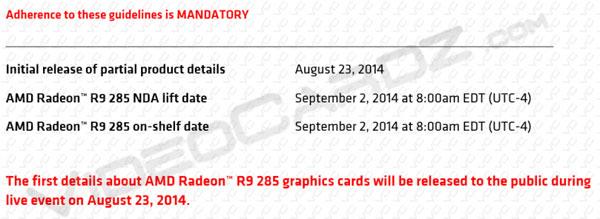 AMD Radeon R9 285 можно будет купить начиная со второго сентября