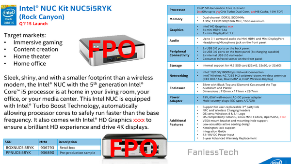 Intel NUC Broadwell Braswell