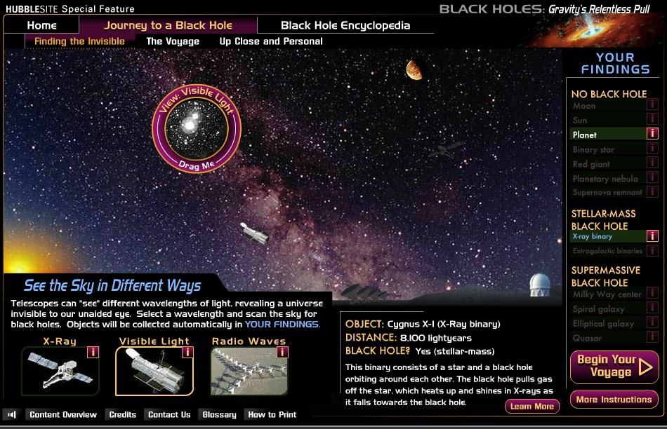 Ищем черные дыры и сверхновые с веб приложением Black Holes