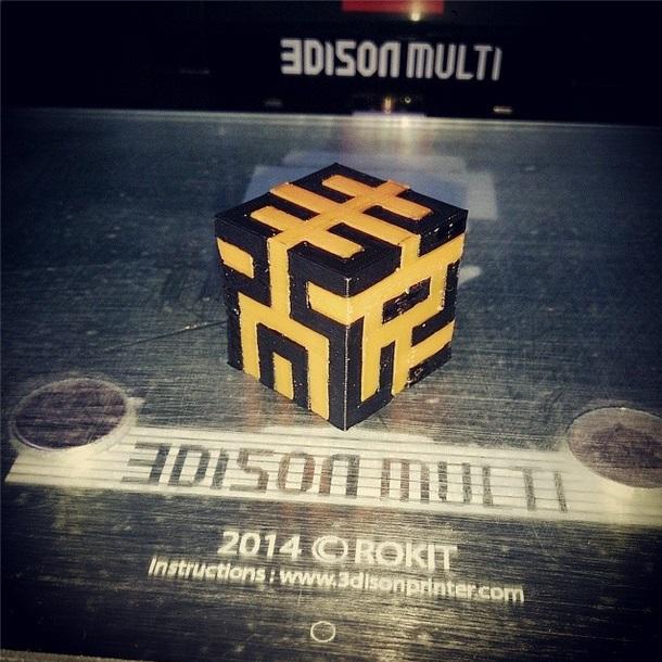 Корейский 3d принтер 3Dison. Печатаем пластиком, металлом, шоколадом, а потом гравируем лазером