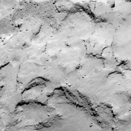 В ESA выбрали пять потенциальных площадок на комете Чурюмова Герасименко для высадки зонда Philae Rosetta