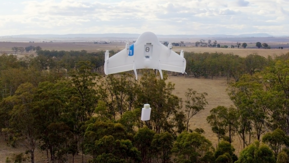 Google тестирует доставку товаров при помощи дронов