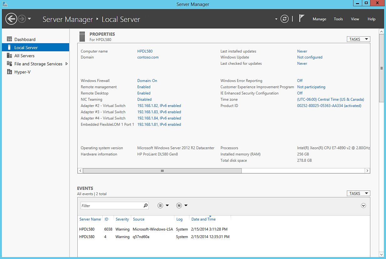 Платформа HP DL580 Gen8 и новое слово в питании серверов