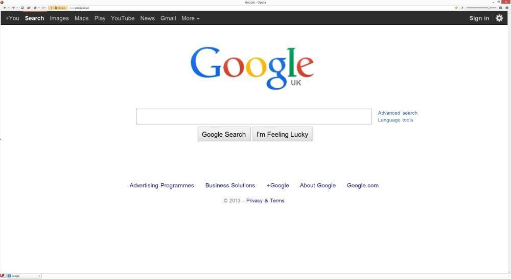 Старым браузерам — старая версия Google