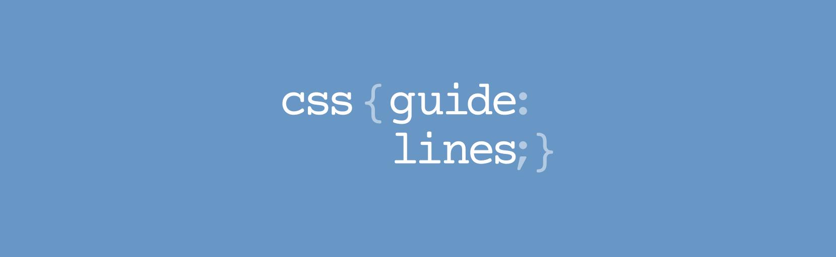 CSS GuideLines, часть 1.Синтаксис и форматирование