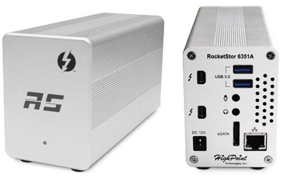Габариты HighPoint RocketStor 6351A — 17,8 х 10,2 х 7,6 см