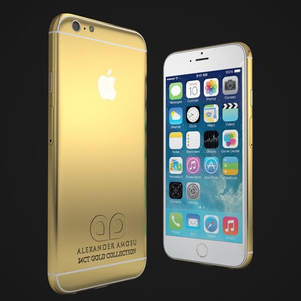 Цена позолоченного смартфона Apple iPhone 6 примерно равна 2400 фунтам стерлингов