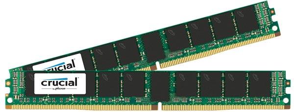 Поставки модулей памяти DDR4 Crucial LRDIMM и VLP RDIMM уже начались
