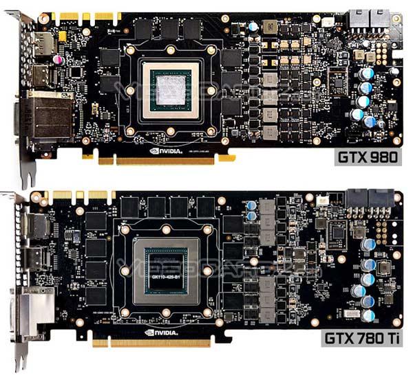 Дополнительное питание GeForce GTX 980 получает по двум шестиконтактным разъемам