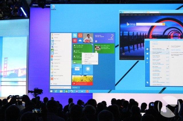 Видео демонстрации меню «Пуск» из Windows 9