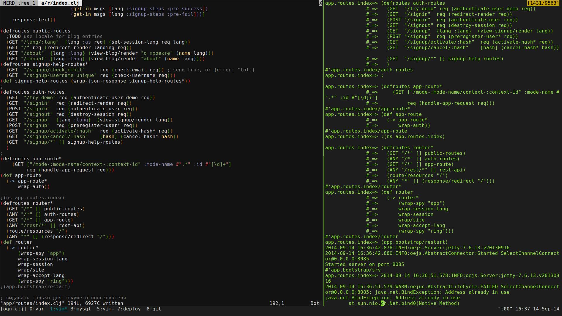 Упрощение жизни программиста с vim + vim slime + tmux