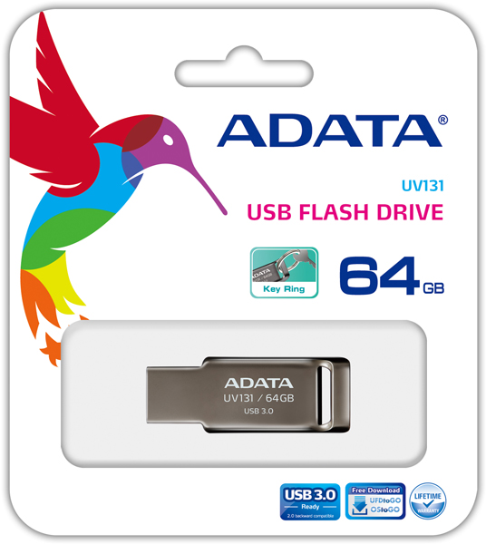 Флэш-накопитель Adata UV131 выпускается объемом 16, 32 и 64 ГБ