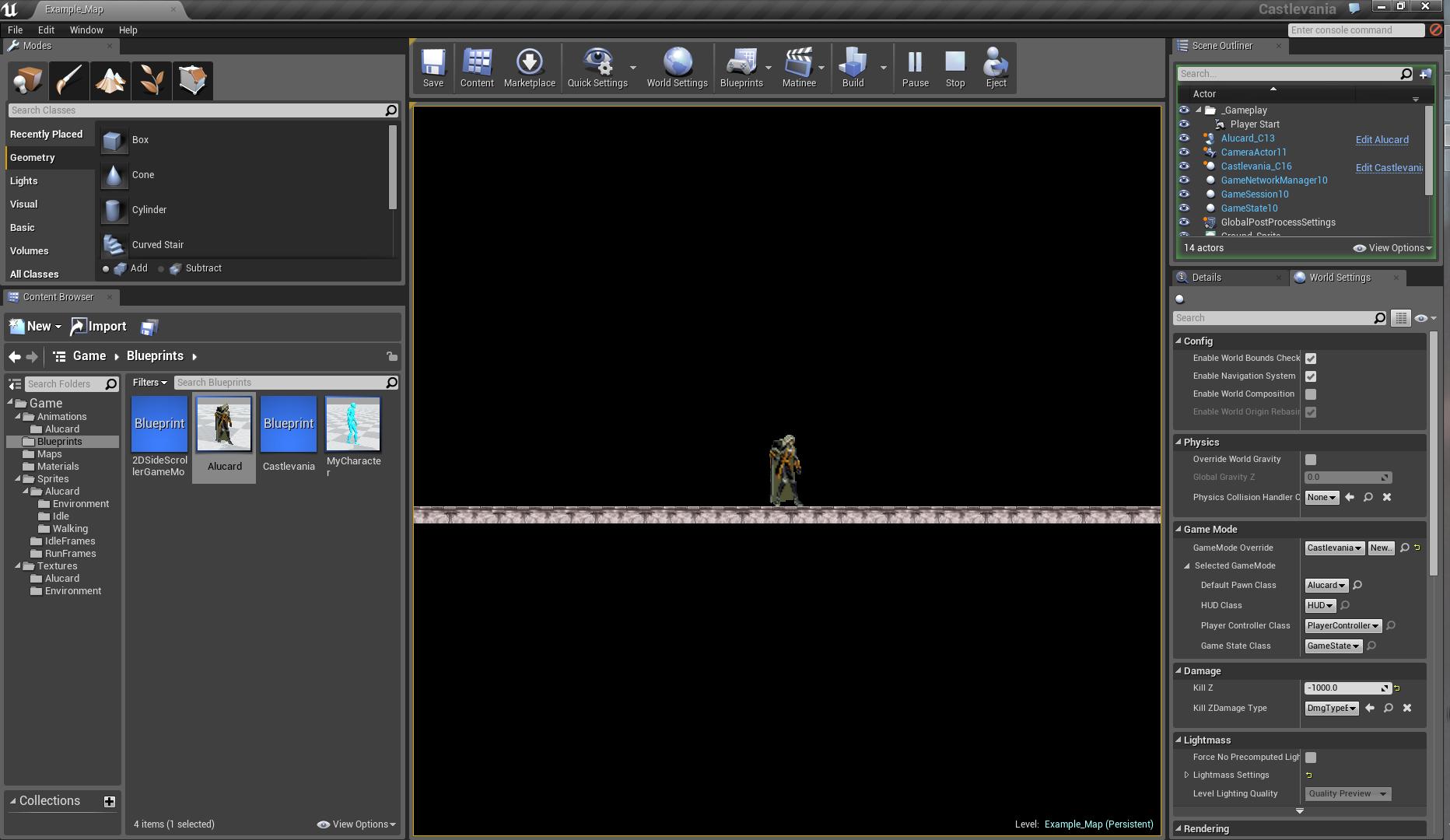 Создаем 2D платформер при помощи Unreal Engine 4. Часть 1 — Игровой персонаж, движение