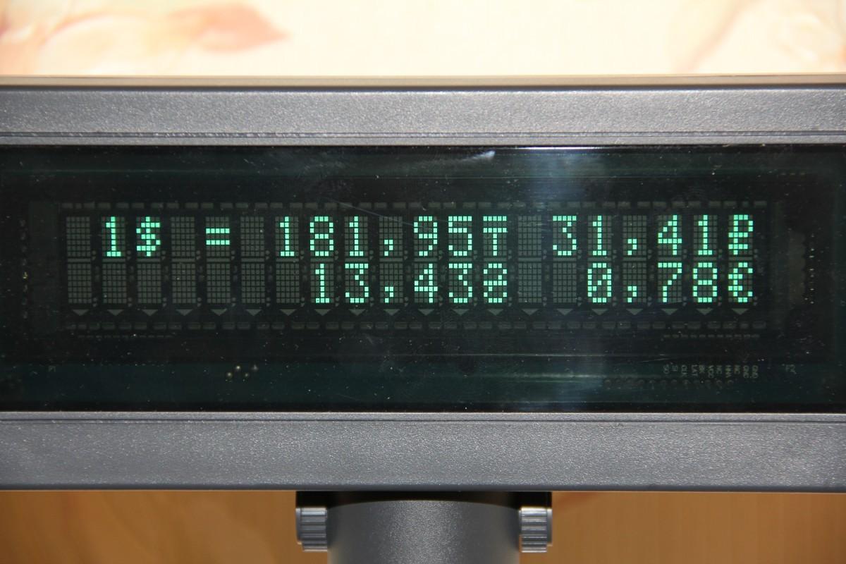 Програмируем символы валют для дисплея покупателя
