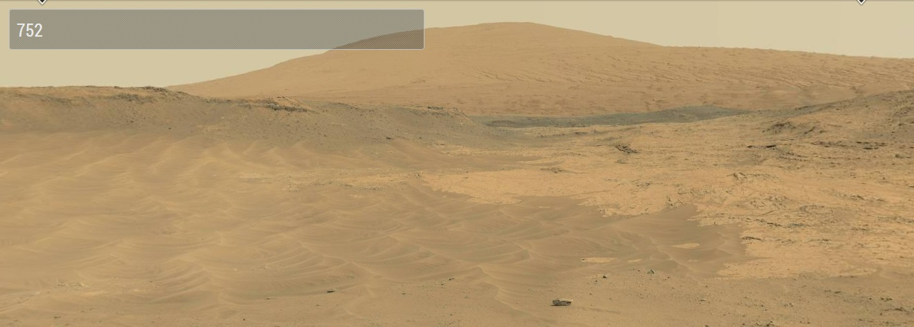 Sol 752: «живая» панорама Марса с холмов Парампа