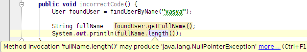 Побеждаем NPE hell в Java 6 и 7, используя Intellij Idea