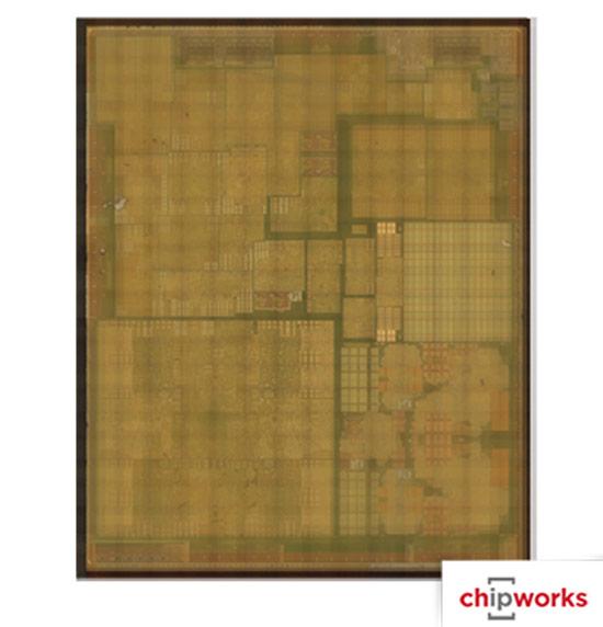 Минимальное расстояние, на котором могут находиться два рядом расположенных транзистора, в A8 примерно равно 90 нм