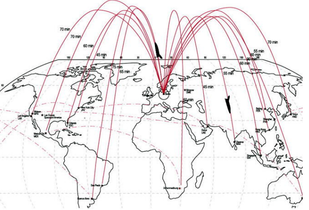 Будущее трансорбитальных перелётов Virgin Galactic: 45 минут из Лондона в Нью Йорк, полтора часа — из Лондона в Сидней