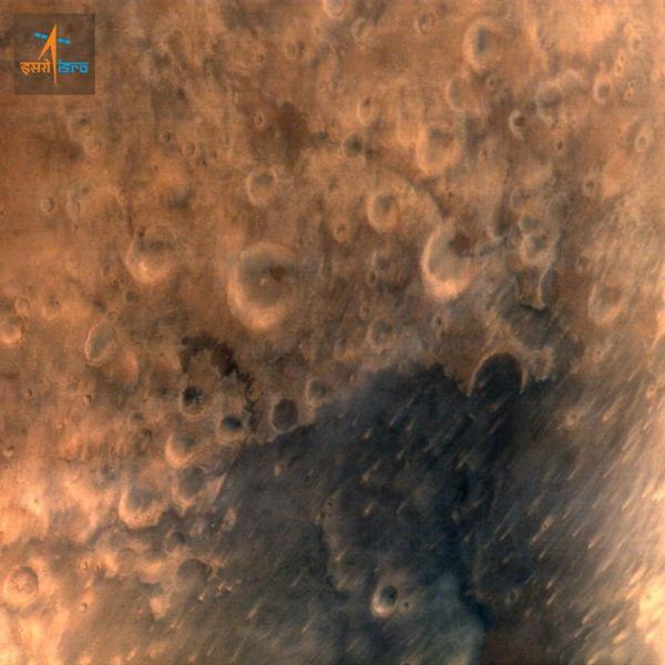Марсианские орбитальные спутники MAVEN и Mangalyaan передали первые фотографии Марса