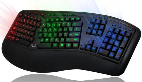 Основной блок клавиш клавиатуры Adesso Tru-Form 150 разделен на две части