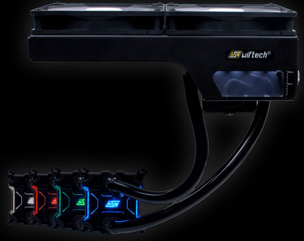 Система жидкостного охлаждения Swiftech H240-X поставляется в заправленном виде