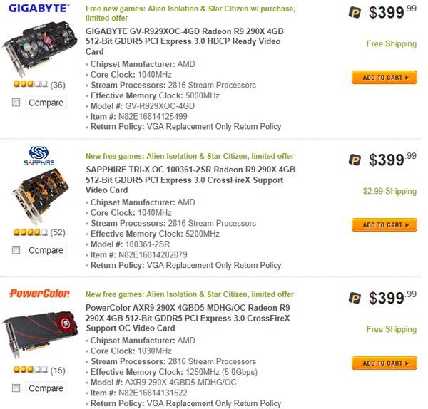 AMD существенно снижает цены на 3D-карты Radeon R9 290 и R9 290X